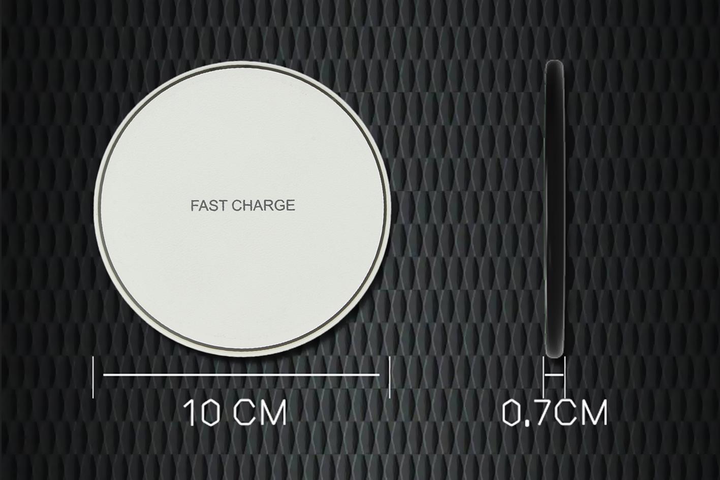 Caricabatterie Wireless Veloce Bianco 10W Slim QI per iPhone 8 iPhone 8plus iPho