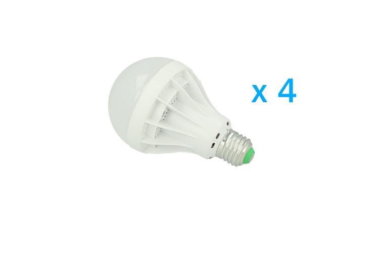Lampade Globo A Basso Consumo : 4 pz lampade led e27 globo opaca sfera g80 12w diameto 80mm bianco