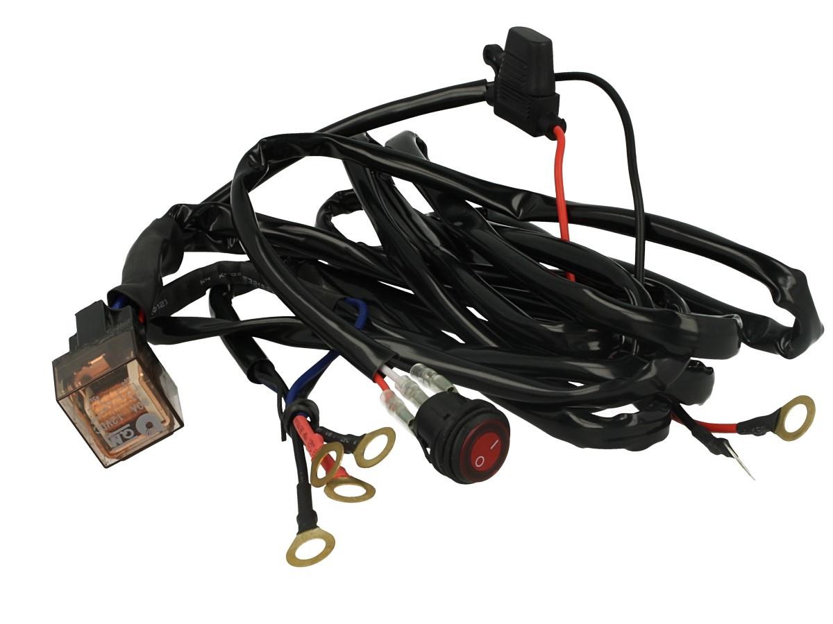 Plafoniera Led 12v Con Interruttore : Kit cablaggio 12v con interruttore rele fusibile per fari led da