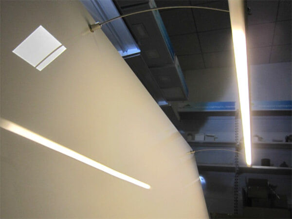Ledlux kit staffe per fissaggio da muro parete sporgente per
