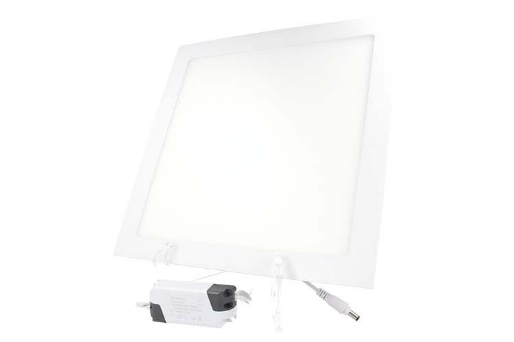 Plafoniera Led Incasso 24w : Ledlux faretto pannello led da incasso quadrato w bianco freddo
