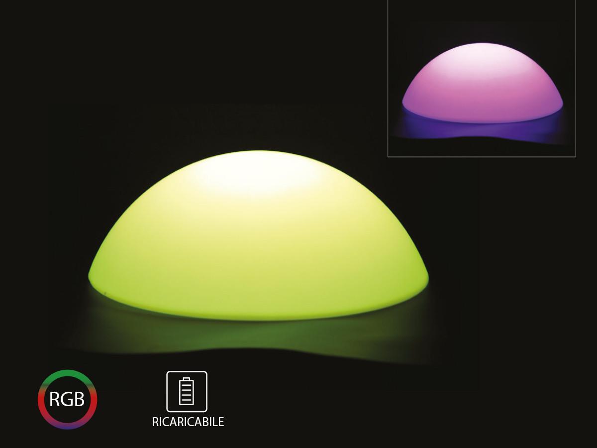 V Tac Semisfera Luminoso Mezza Palla Con Lampada Luce Led