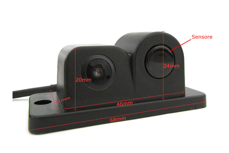 Video parking sensor in telecamera portatarga con sensore