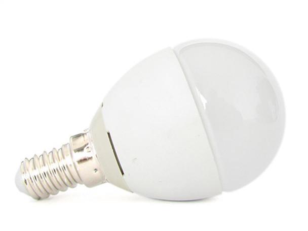 Ledlux lampada a led e p w bianco caldo forma sfera bulbo