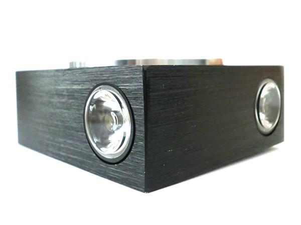 Ledlux applique led lampada faretto da muro w v quadrata