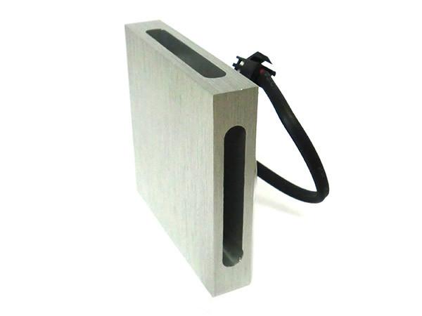 Ledlux applique led da parete segnapassi a muro quadrato bianco