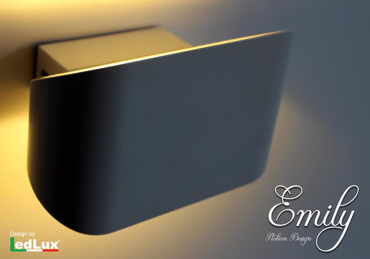 Ledlux applique led da parete modello emily italian design moderna