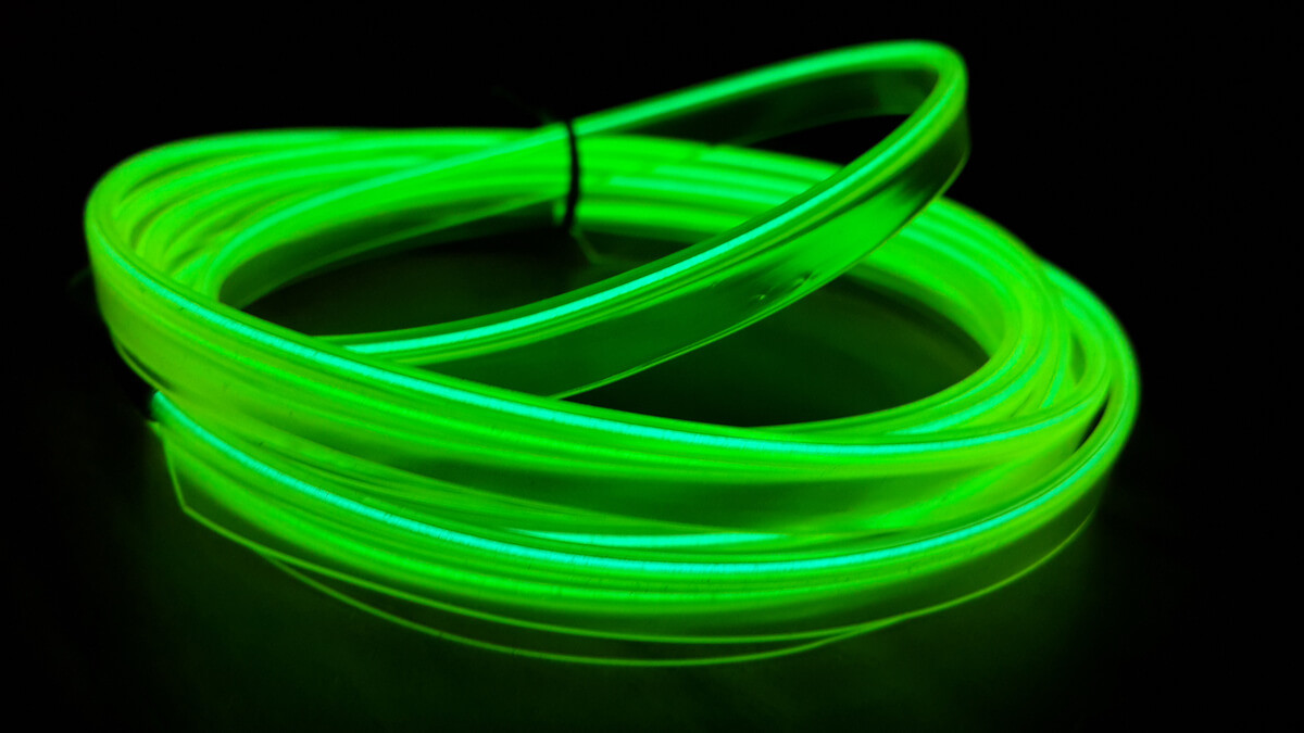 Carall stringa el striscia neon led verde 5 metri for Luce led striscia