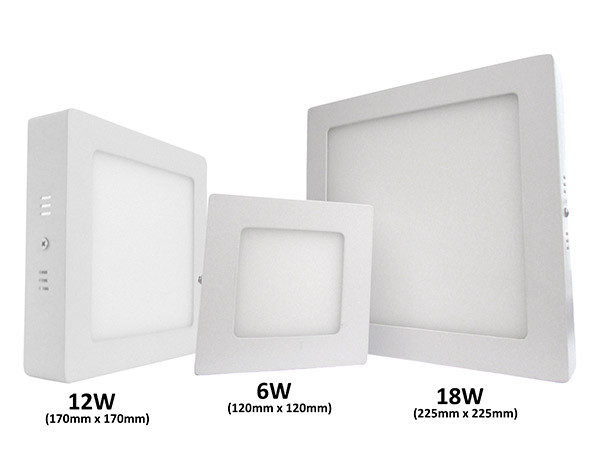 Plafoniera Led Soffitto Quadrata : Ledlux plafoniera faretto led da soffitto muro parete quadrata 12w