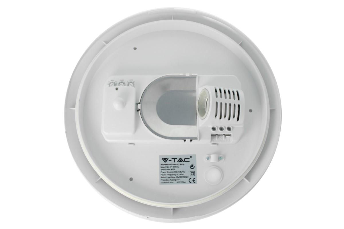 Plafoniere Per Lampade Led E27 : Plafoniera vuota con sensore microonde movimento ip44 anche esterno