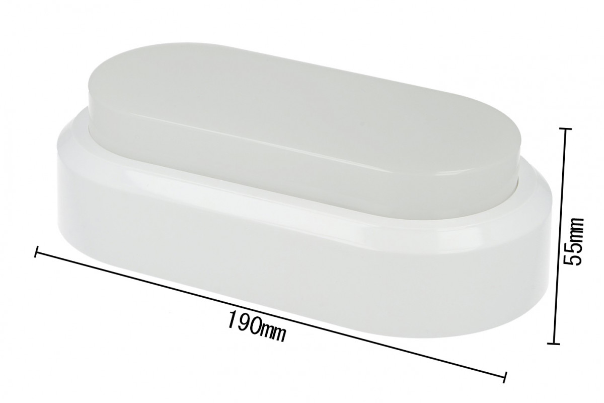 Ledlux plafoniera led applique da parete soffitto ovale