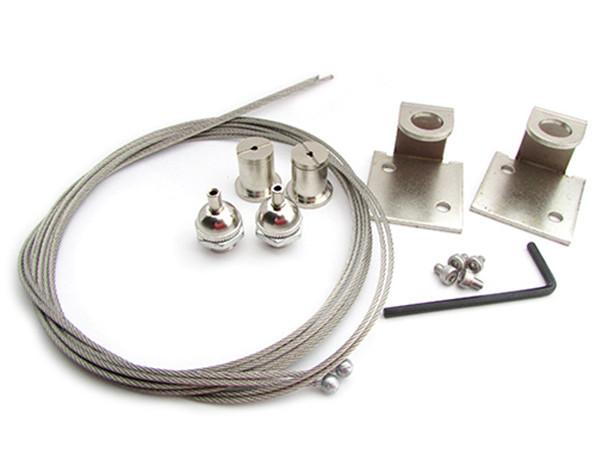 Plafoniere Per Lampade : Ledlux kit staffe fissaggio a sospensione per lampada plafoniera