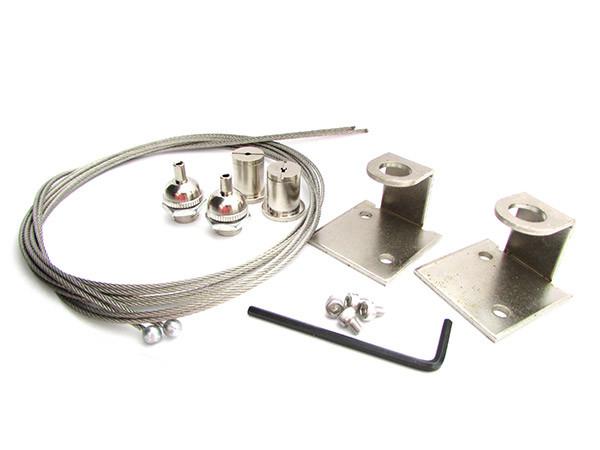 Plafoniere Per Lampade A Led : Ledlux kit staffe fissaggio a sospensione per lampada plafoniera