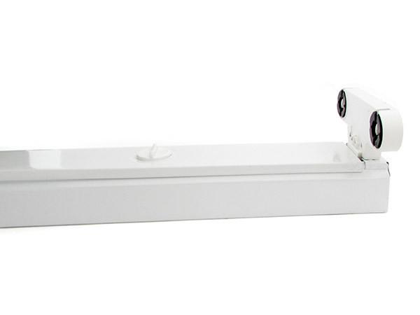 Plafoniera Tubo Led 60 Cm : Ledlux porta lampada plafoniera per doppio tubi led t da cm