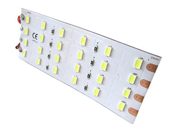 Plafoniere A Led Per Furgoni : Ledlux pannello plafoniera led flessibile v w bianco caldo cm