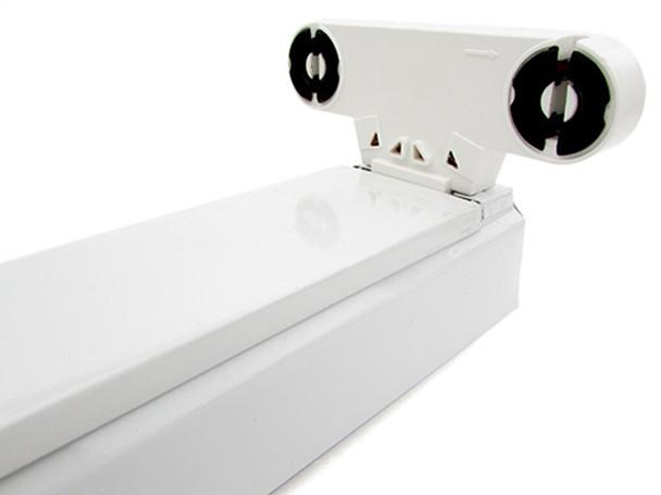 Plafoniere Per Tubi Neon : Ledlux porta lampada plafoniera per doppio 2 tubi led t8 da 60cm