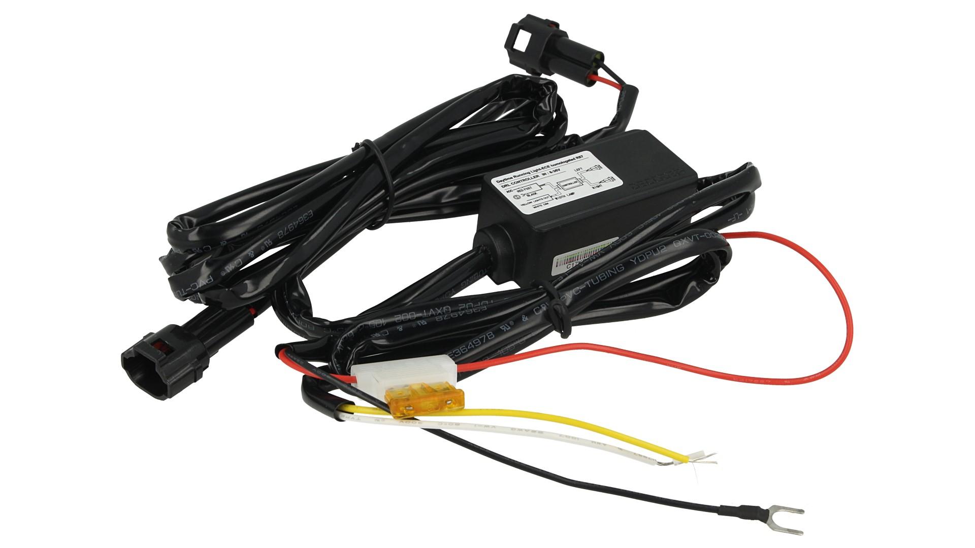 Cablaggio Rele Con Fusibile Per Luci Diurne Led DRLs 12V 24V 5X2W Compatibile Con DL5151 - KIT