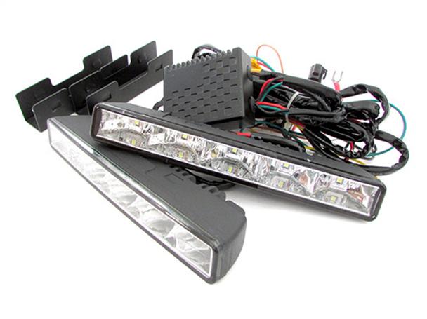 Luci Diurne Led DRLs 12V 24V 5W Dimmerabile Funzione Frecce e Ritardo Spegnimento IP65 Omologato E8 E4 R87 - KIT