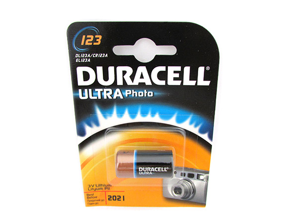 Pila Batteria Duracell Lithium Litio DL123A CR123A EL123A CR17345 3V Ultra Photo