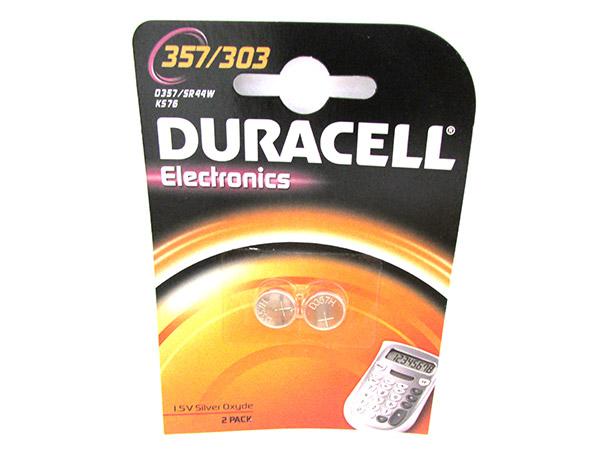 Pila Batteria A Bottone Duracell Silver Oxide 357 303 D357 SR44W KS76 Per Orolog