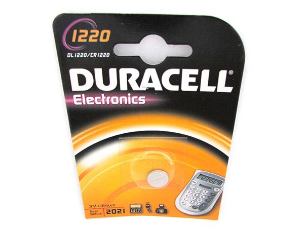 Pila Batteria Lithium A Bottone Duracell Litio 1220 DL1220 CR1220 3V Per Disposi