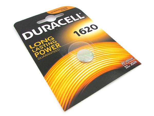 Pila Batteria Lithium A Bottone Duracell Litio 1620 DL1620 CR1620 ECR1620 3V Per