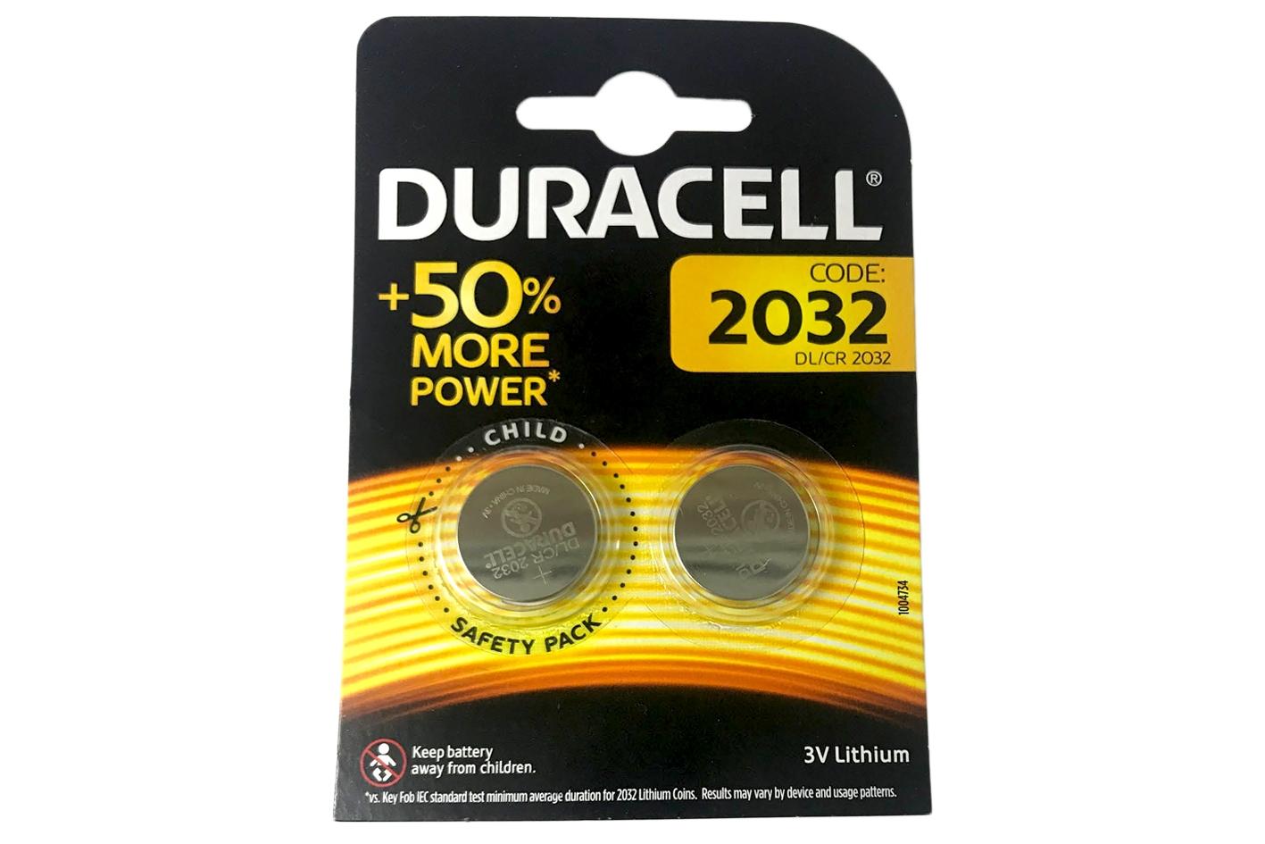 Pila Batteria Lithium A Bottone Duracell Litio 2032 DL2032 CR2032 BR2032 3V Conf