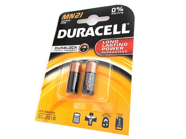 Pila Batteria Duracell Alkaline LRV08 A23 K23A MN21 MN23 Duralock 12V Confezione