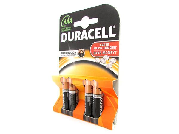 Pila Batteria Duracell Alkaline LR03 MN2400 Tipo Ministilo AAA 1,5V Confezione D