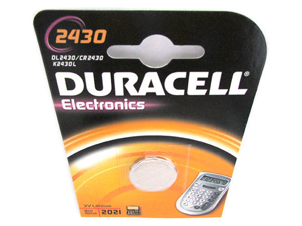 Pila Batteria Lithium A Bottone Duracell Litio 2430 DL2430 CR2430 K2430L 3V Per
