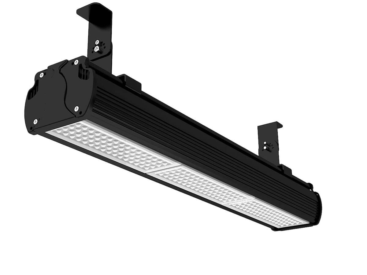 Proiettore Faro Led Flood Lineare 150W 220V Bianco Neutro 60 Gradi Installazione Da Soffitto o In Sospensione(Accessori Esclusi) - KIT