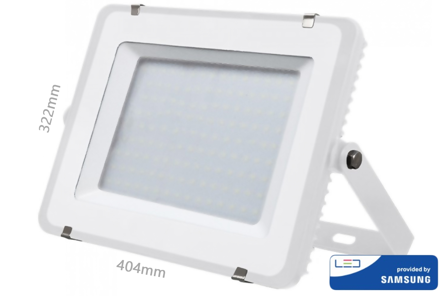Faro Led Flood Light 150W IP65 Bianco Neutro Super Slim 52mm Carcassa Bianca Samsung Garanzia 5 Ann SKU-479 - KIT