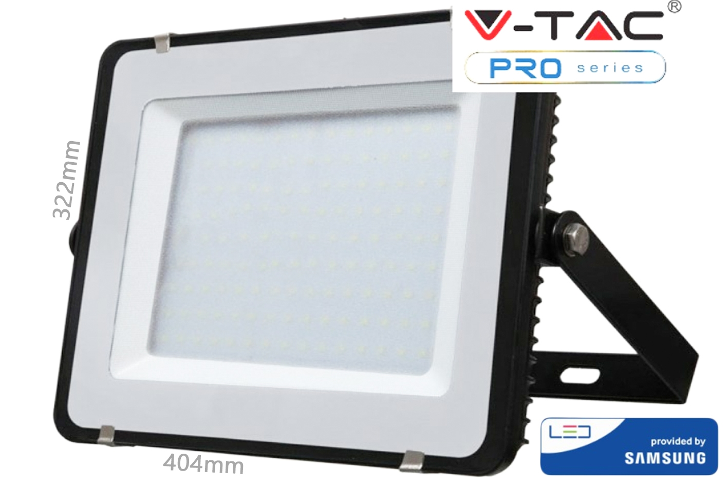 Faro Led Flood Light 150W IP65 Bianco Neutro Super Slim 52mm Carcassa Nera Samsung Garanzia 5 Ann SKU-476 - KIT