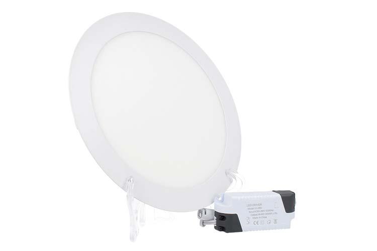 Faretto Pannello Led Da Incasso Rotondo 18W Bianco Caldo Diametro 225mm SKU-4860 - PZ