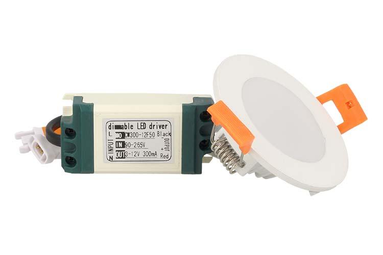 Lampada Mini Faretto Pannello Led Da Incasso Rotondo 3W=30W Bianco Neutro Diametro 72mm - PZ