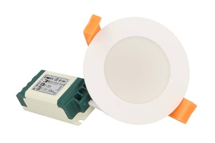 Lampada Faretto Led Da Incasso 7W Bianco Caldo Diametro 85mm - PZ
