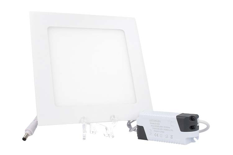 Faretto Pannello Led Da Incasso Quadrato 12W Bianco Caldo 170mmx170mm SKU-4866 - PZ