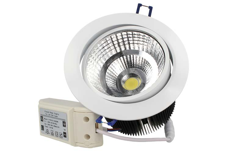 Lampada Faretto Led Incasso Da Soffitto 15W Bianco Caldo 220V - PZ