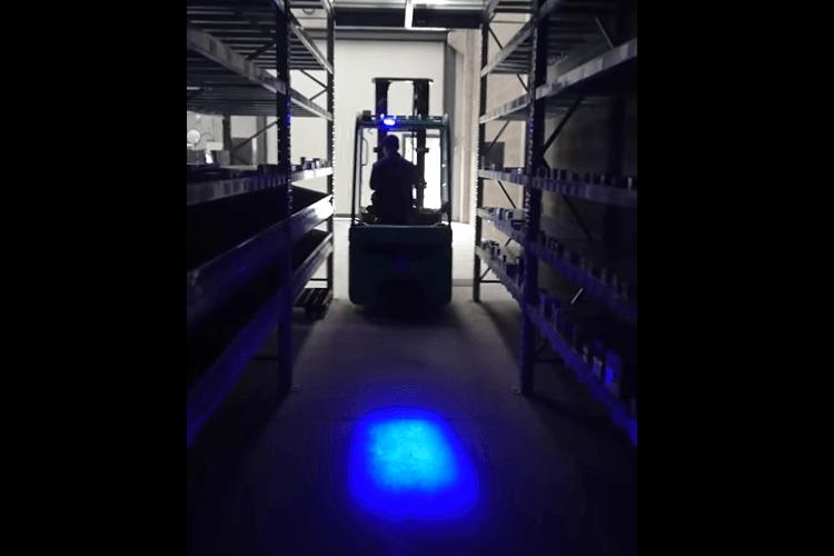 Lampada Faretto Fanale Led Per Carrello Elevatore Muletto Luce Blu 9V-60V 20W Avvertimento Visiva Segnalazione - PZ