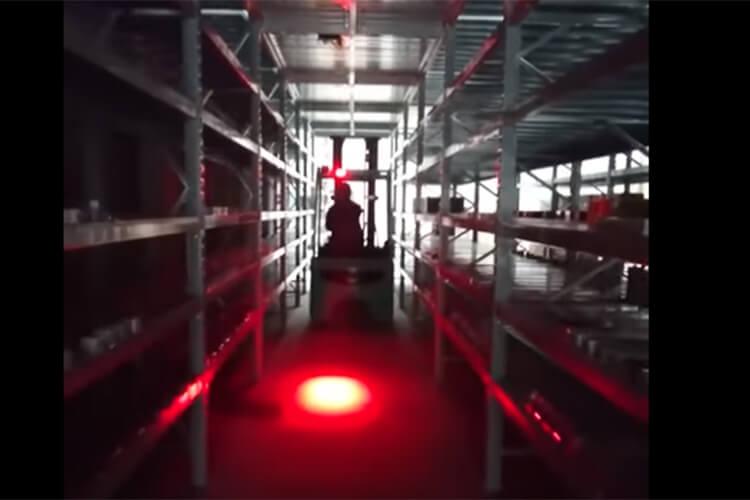 Lampada Faretto Led Per Carrelli Elevatori Muletti Luci Rosso 9V-60V 20W Sicurezza Movimento Magazzino Per Pedoni - PZ