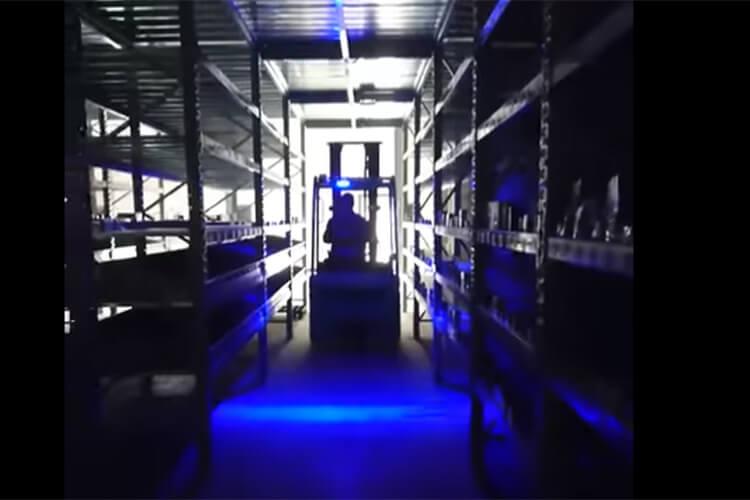 Lampada Fanale Faro Led Lineare Per Carrello Elevatore Muletto Luce Blue 12V-80V 30W Segnaletica Sicurezza - PZ