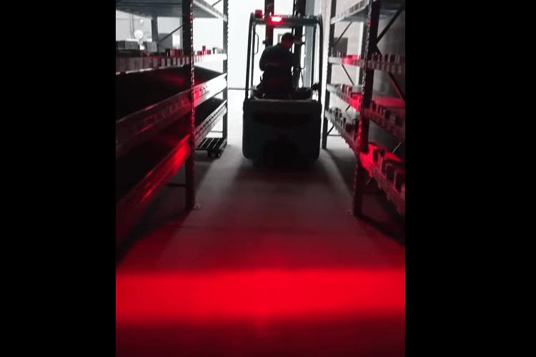 Lampada Faro Led Lineare Per Carrello Elevatore Muletto Luce Rosso 12V-80V 30W Avvertimento Visiva Sicurezza Movimento Magazzino - PZ