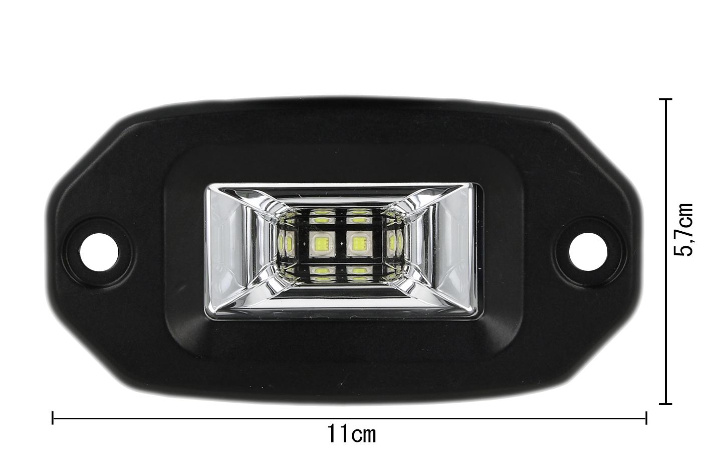 Fanale Luci Diurne A Led DRL Work Light Faro Da Lavoro Cree 10W 12V 24V Per Auto Camion - PZ