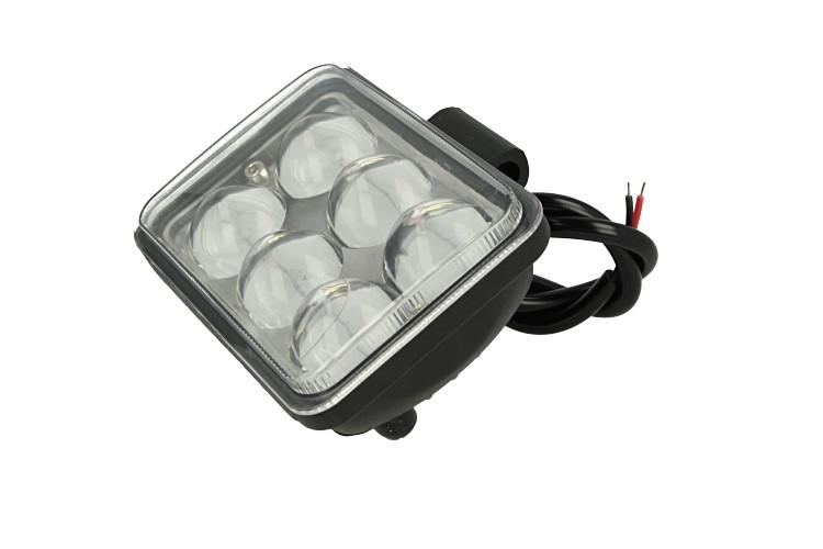 Fanale Rettangolare 18W DRL Daylight Led Work Light Faro Da Lavoro 9V 12V 24V 36V 48V 60V 6X3W IP67 Bianco Angolo Stretto Con Lente Ingrandimento 4D - PZ
