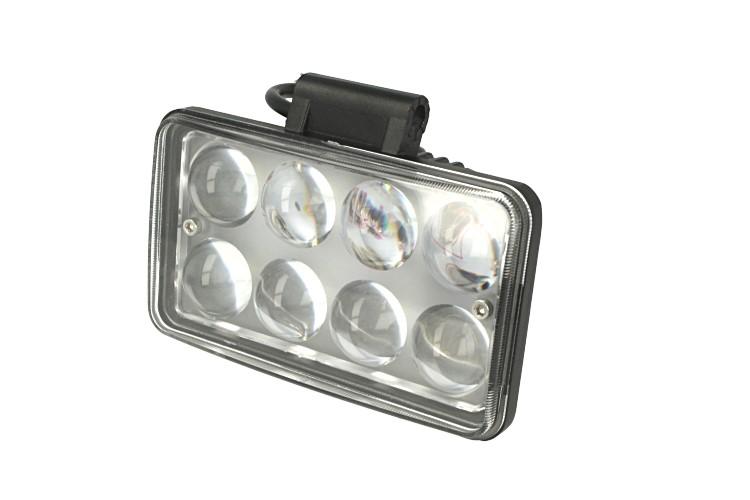 Fanale Rettangolare 24W Doppio Luminosita Hi Low Led Work Light Spot Lente Ingrandimento 4D Faro Da Lavoro 9V-60V IP67 Bianco - PZ