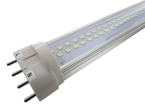 Lampada LED Attacco 2G11 4 Pin 15W 320 mm Bianco Caldo 220V Sostituisce Neon Dulux 2G11 24W - PZ