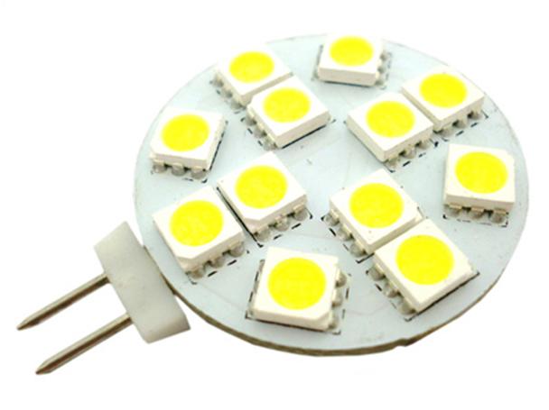 Lampada LED G4 Bispina 10V-30V Bianco Caldo Per Camper Casa Camion 12V e 24V - PZ