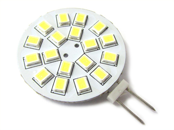 Lampadina LED G4 Bispina 10V-30V DC AC 3W 12V e 24V Bianco Caldo 3000K 18 SMD 2835 - PZ