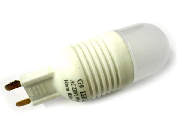 Lampadina LED G9 16 SMD 3014 220V 1,5W 360 Gradi Bianco Caldo Modello Slim - PZ