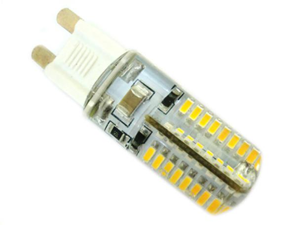 Lampada LED G9 220V 3,5W Bianco Caldo 360 gradi Con Silicone 64 SMD 3014 Diametro Solo 16mm - PZ